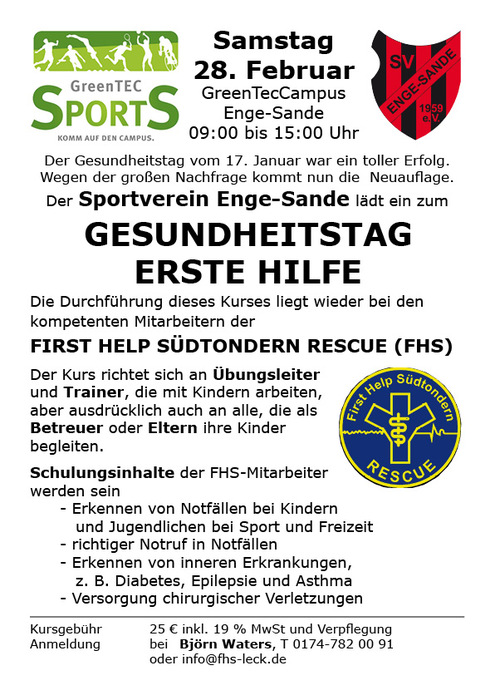 sportverein enge-sande von 1959 e. v. - archiv 2015, Einladung